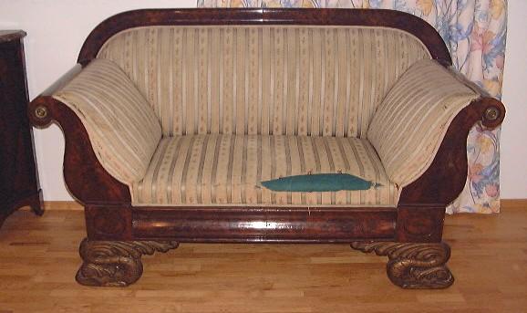 antikes biedermeier sofa mahagoni klassizismus. Black Bedroom Furniture Sets. Home Design Ideas